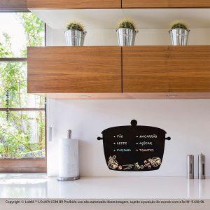Adesivo De Lousa Cozinha Panela Mod:114