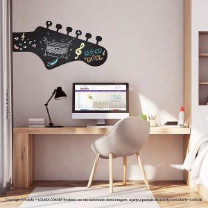 Adesivo De Quadro Negro Quarto Violão Mod:121