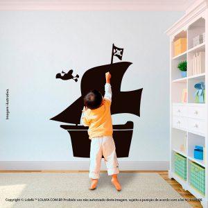 Adesivo Quadro Infantil Navio Pirata Mod:154