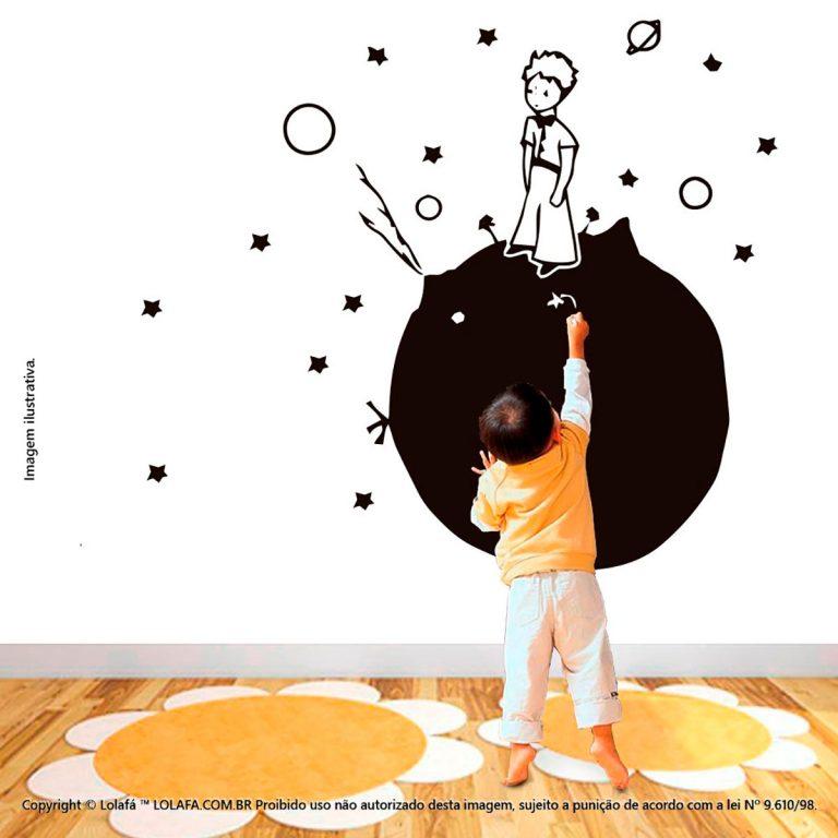 Adesivo Quadro Preto Infantil Planeta Mod:159