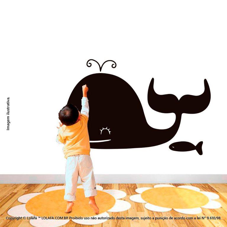 Adesivo De Lousa Para Parede Infantil Baleia Mod:160