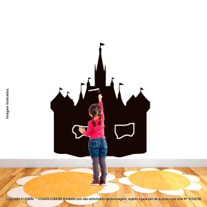 Adesivo Quadro Negro Infantil Castelo Mod:163