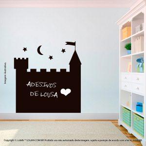Adesivo Lousa Negra Infantil Castelo Mod:164