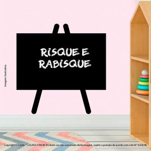 Adesivo De Lousa Preto Infantil Cavalete Mod:183
