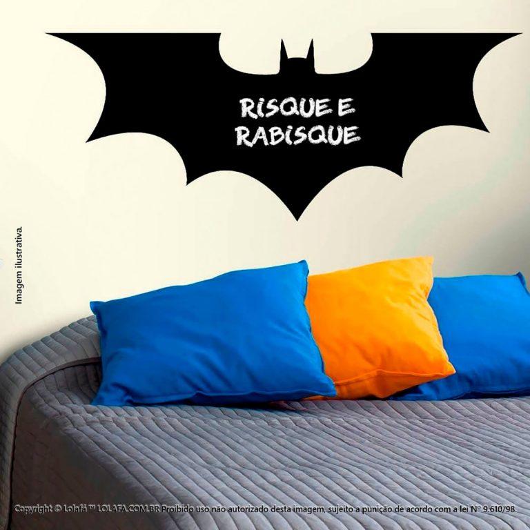 Adesivo De Parede Lousa Infantil Batman Mod:197