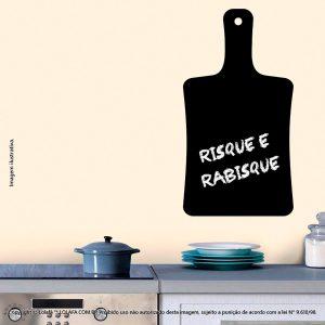Quadro Negro Adesivo Cozinha Tábua Mod:200