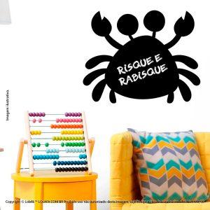 Adesivo De Parede Lousa Infantil Caranguejo Mod:213