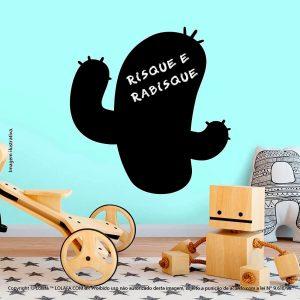 Adesivo De Lousa Preto Infantil Cacto Mod:215