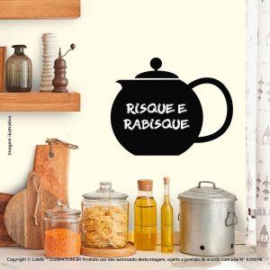 Adesivo De Parede Lousa Cozinha Bule Mod:229
