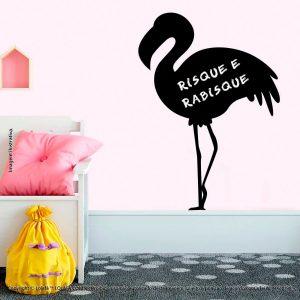 Adesivo Parede Lousa Infantil Flamingo Mod:238