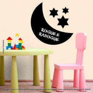 Adesivo Lousa Negra Infantil Lua Mod:244