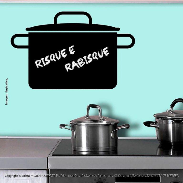 Adesivo Lousa Preta Cozinha Panela Mod:246