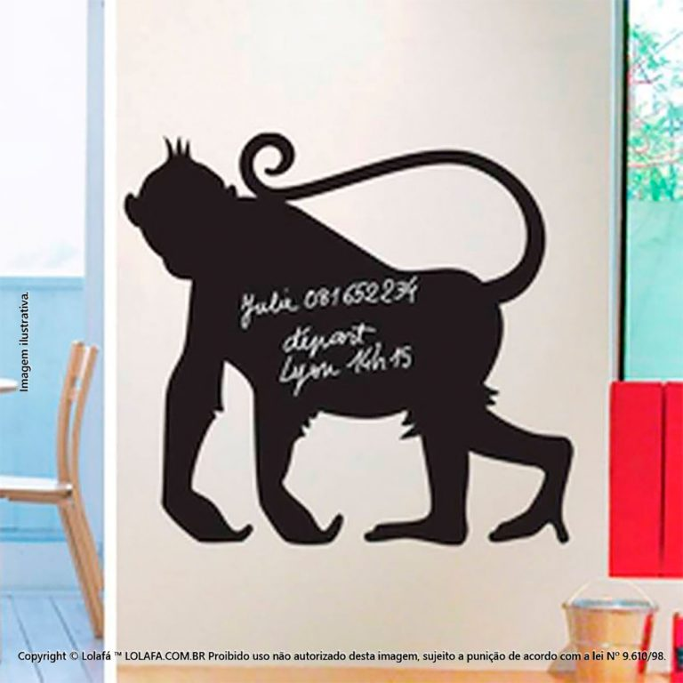Adesivo Quadro Negro Parede Macaco Mod:275