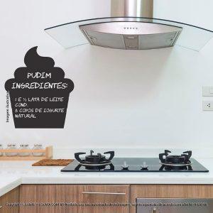 Adesivo De Lousa Para Parede Cozinha Cupcake Mod:288
