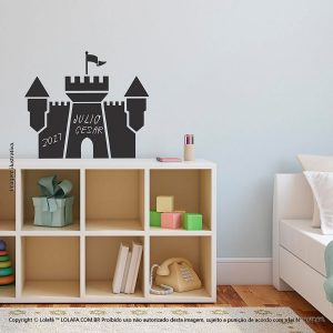 Adesivo De Lousa Infantil Castelo Mod:290