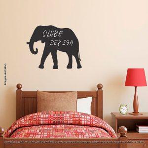 Adesivo De Parede Lousa Infantil Elefante Mod:293