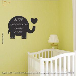 Adesivo Lousa Preta Infantil Elefante Mod:294