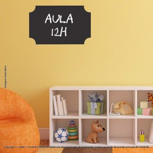 Adesivo Quadro Negro Infantil Moldura Mod:307