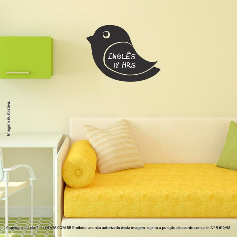 Adesivo Lousa Negra Infantil Pássaro Mod:308