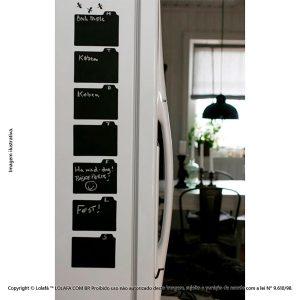 Adesivo Lousa Negra Geladeira Calendário Semanal Mod:324
