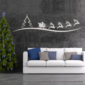 Adesivos De Natal Trenó Do Noel Mod:1