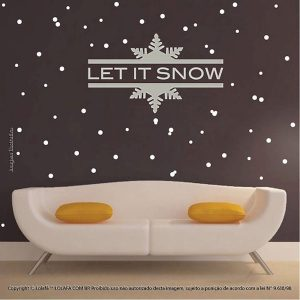 Adesivo Natal Let Is Snow Mod:2