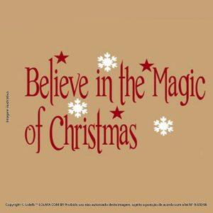 Adesivos Para Natal Acredite Na Magia Mod:3