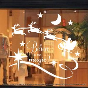 Adesivos Em Natal Vitrine Acredite Na Magia Mod:4