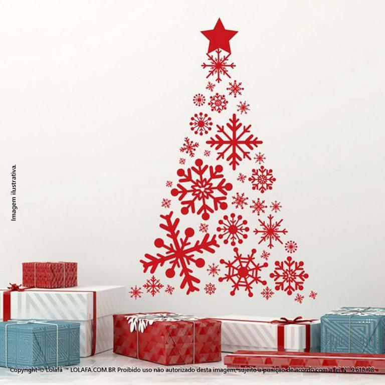 Natal Adesivos Árvore De Flocos De Neve Mod:24