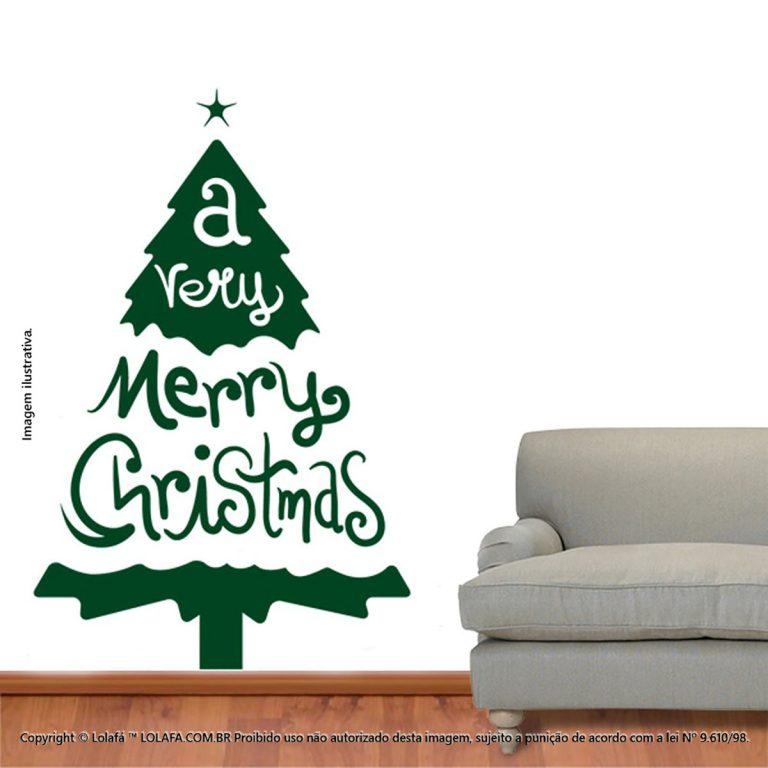 Adesivo Natal Árvore Mod:38