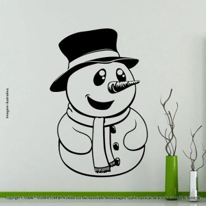 Adesivos De Natal Boneco De Neve Mod:55