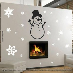 Adesivos Para Natal Boneco De Neve Mod:57