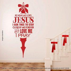 Natal Adesivos Jesus Mensagem Mod:78