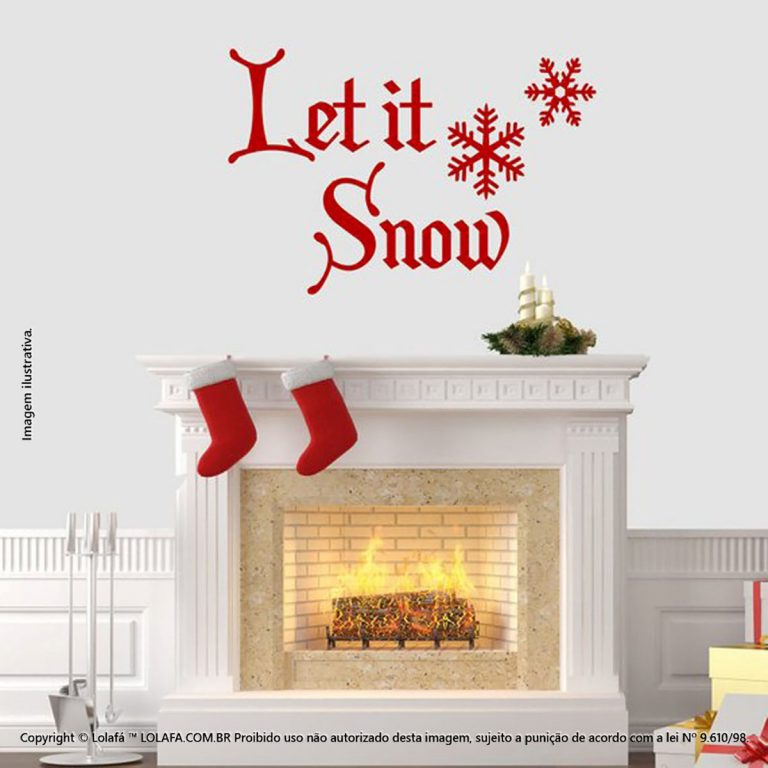 Adesivos Para Natal Let It Snow Mod:123