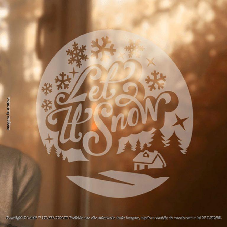 Adesivos Em Natal Vitrine Let It Snow Mod:124