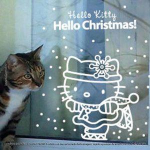 Adesivos De Natal Vitrine Hello Kitty Mod:151
