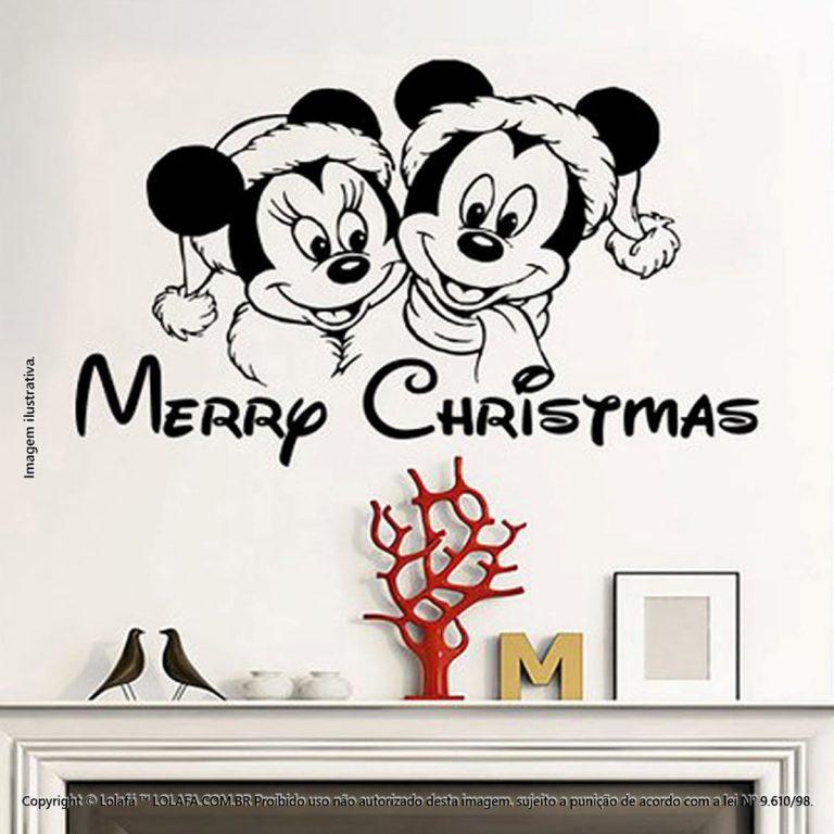 Adesivos De Natal Mickey E Minie Mod:157