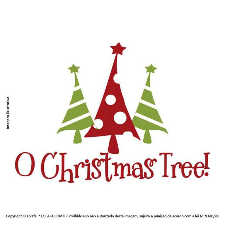 Adesivo De Parede Natal Oh Árvore Mod:173