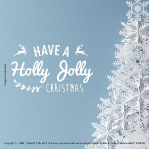 Adesivos De Natal Holly Christmas Mod:253