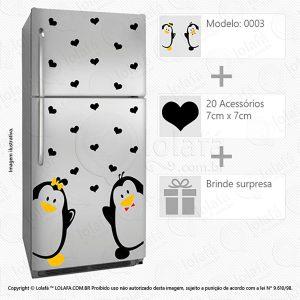 Adesivos Para Geladeira Pinguins Mod:3