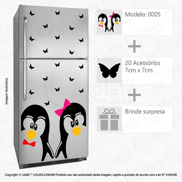 Adesivo De Geladeira Pinguins Mod:5