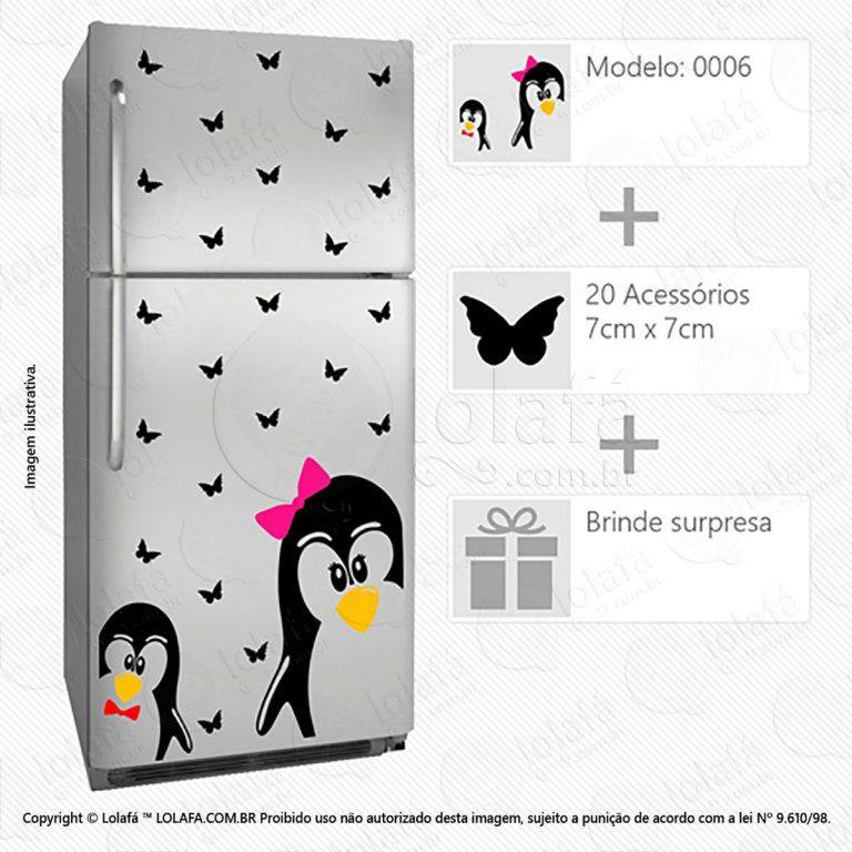 Adesivos De Geladeira Pinguins Mod:6