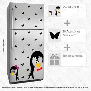 Adesivo Geladeira Pinguins Mod:8