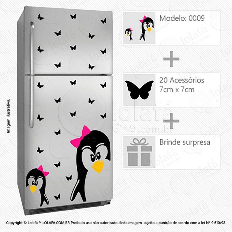 Adesivos Geladeira Pinguins Mod:9