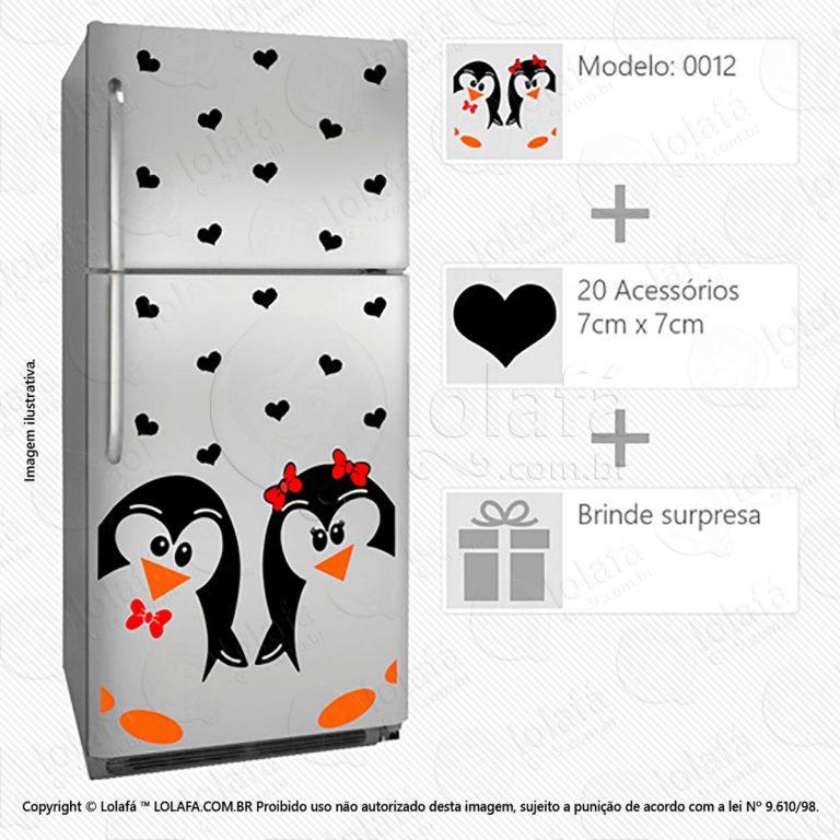 Adesivo Para Geladeiras Pinguins Mod:12
