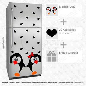 Adesivos Para Geladeira Pinguins Mod:13