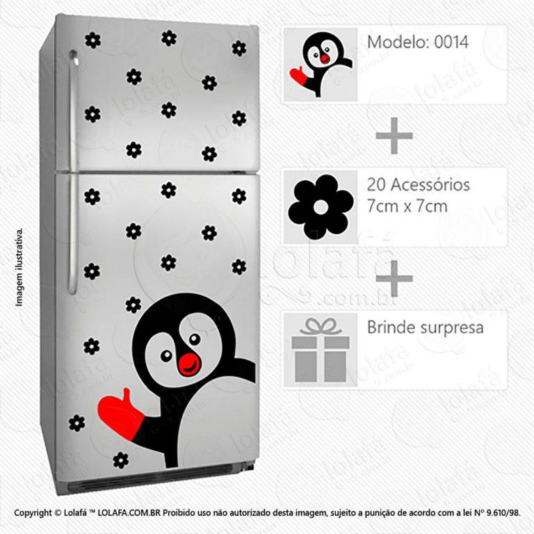 Adesivos Para Geladeiras Pinguim Mod:14