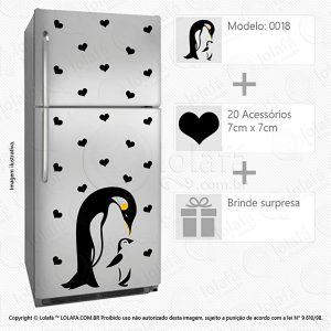 Adesivo Geladeira Pinguins Mod:18