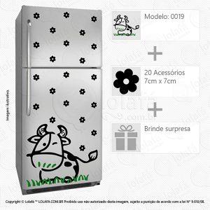 Adesivos Geladeira Vaca Mod:19