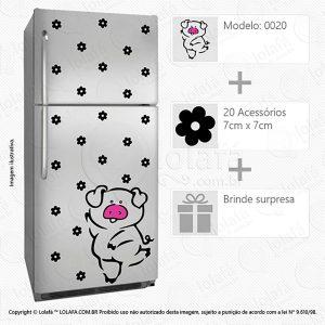 Adesivos Geladeiras Porco Mod:20